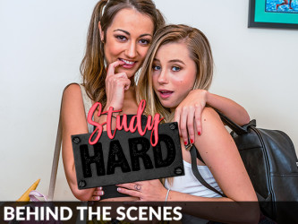 Carolina Sweets and Lily Adams - Behind the Scenes, Study Hard